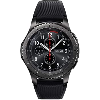 SAMSUNG GEAR S3 FRONTIER Smartwatch 46MM (Bluetooth Only) - Dark Grey (Renewed)
