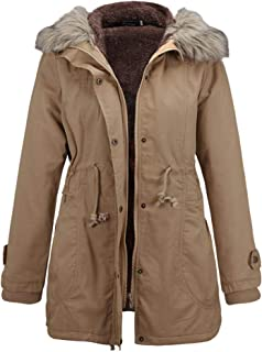 XFentech Womens Winter Coats - Fashion Hooded Warm Winter Parkas Long Coats