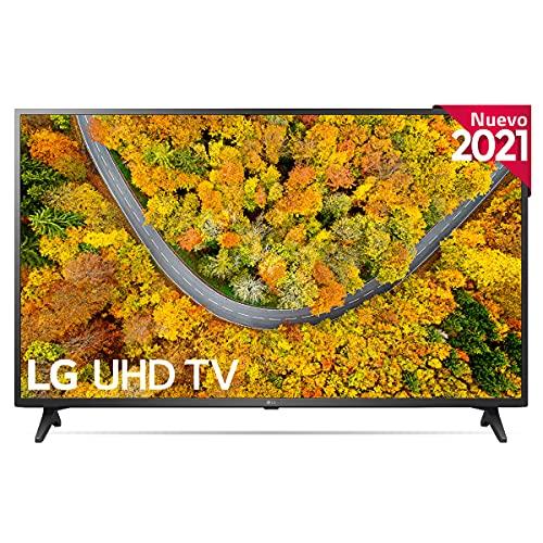 "LG 55UP7500-ALEXA 2021-Smart TV 4K UHD 139 cm (55"") con Procesador Quad Core, HDR10 Pro, HLG, Sonido Virtual Surround, HDMI 2.0, USB 2.0, Bluetooth 5.0, WiFi"