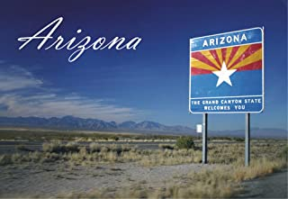 Welcome to Arizona Sign, AZ, The Grand Canyon State, Magnet 2 x 3 Fridge Photo Magnet