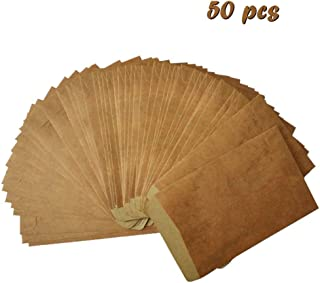 Beyong Brown Classic Vintage Fire-Paint Kraft Envelopes - Perfect for Party Invitation, Baby Showers - Size 4 x 6 Inches (50)
