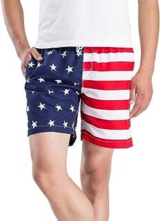 2a8206359a338 Kolylong 2018 Sport Shorts Hommes Séchage Rapide d'été,Drapeau américain  Pantalon Court Homme