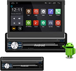 Lexxson Car Navigation 7inch 1024x600 Super High Definition Digital Screen Built-in GPS 1.2G Quad Core Android 6.0 System Build-in WiFi 7 Color LED Backlight with Remote Control Manual CT0013