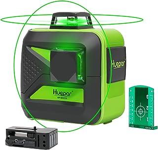 Huepar Nivel Láser 2X 360 Láseres de línea Verde 40m con MODO DE PULSO, USB Recargable, Autonivelante Líneas Cruzadas con 360 Vertical/Horizontal Conmutables, con 360° Base Giratoria Magnética, 602CG