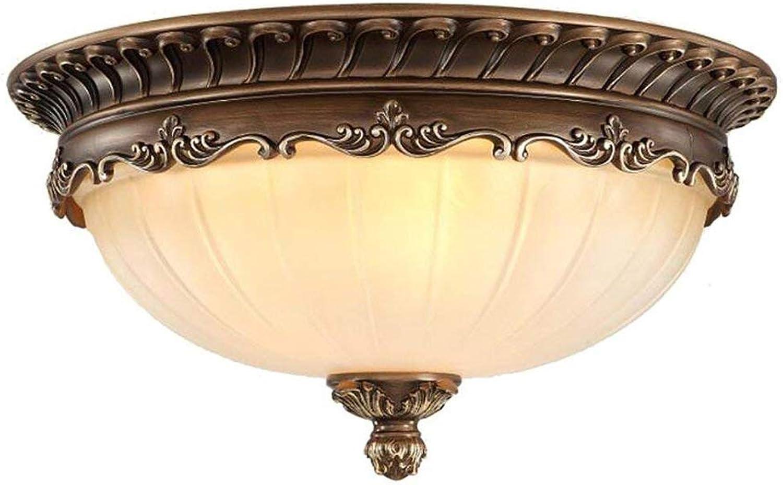 SGWH Plafonniers ronds vintage, 3 lumières lampes de plafond de résine antique de verre dépoli verre chambre nordique décoration plafond plafonnier E27 (support de lampe)
