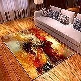 WPCheng Alfombra Hermosa Nebulosa Cósmica Alfombra Suave Antideslizante para Decoración del Hogar Impresa En 3D F-2828N 100X150Cm