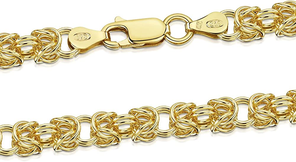 Amberta collanina - catenina argento sterling 925 - placcato oro 18k BIA-GP-CHAIN-013-075-450