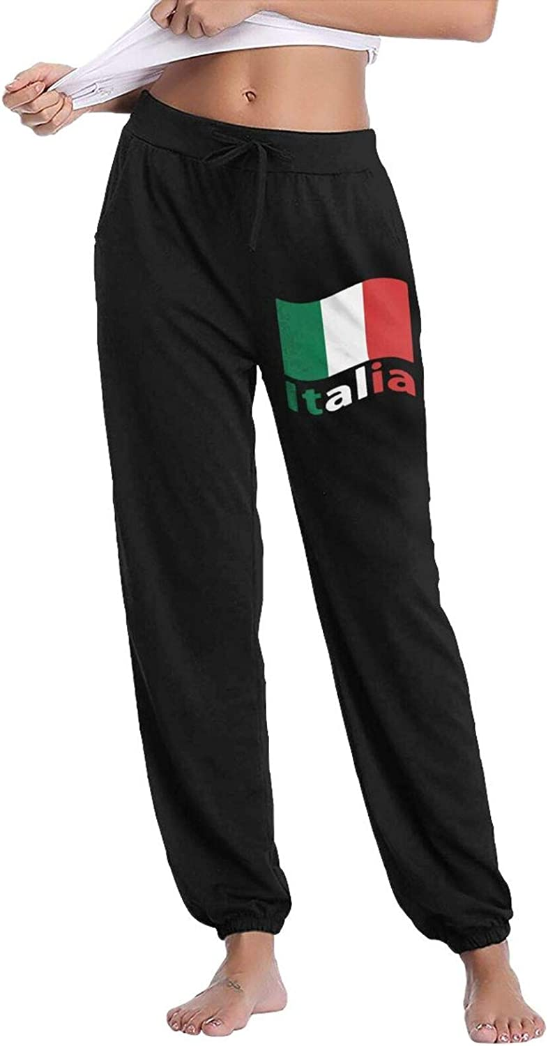 PT48dw-5 Italian Flag Women's Casual Super popular specialty store Drawstring Sweatpants Pants OFFicial site