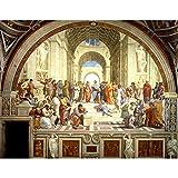 Madera Rompecabezas La Escuela De Atenas Mural Rompecabezas Educativos Juguete 500/1000/2000/3000/5000/6000 Regalos Piezas Decorativas 0320 (Size : 1500 Pieces)