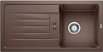 BLANCO FAVUM 45 S – moderne inbouwspoelbak van silgraniet – instapmodel voor 45 cm brede onderkasten – bruin – 524232