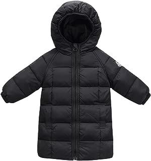 Happy Cherry Baby Kids Hooded Long Coat Winter Down Windproof Jacket Outerwear