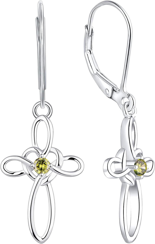 YL Popular brand Celtic Manufacturer regenerated product Knot Cross Earrings Drop Silver Sterling Earrin Dangle