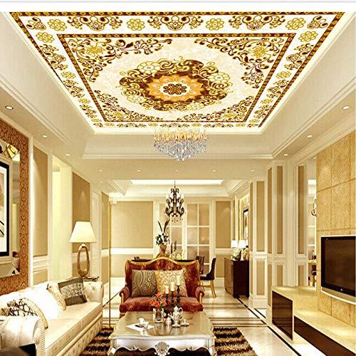 Papel pintado de techo europeo de gran mural 3D sin costuras, papel tapiz de techo para sala de estar, dormitorio, hotel KTV, revestimiento de pared de techo-140cmx100cm