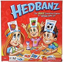 """HedBanz Game-Guess What's am I/Card Games Party Board Game for Kids Friends and Families 2.Ask """"yes"""" or """"no"""" questions to figure out if the cartoon on your head is an animal, food or man-made object. 3.No talking allowed! Players must guess before ti..."""