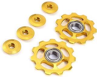Stylrtop 2 pcs 11T Aluminum Sealed Bearing Jockey Wheel Rear Derailleur Pulley for Shimano Sram Rear Derailleur Etc.