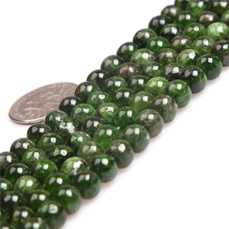 Joe Foreman Green Diopside Beads for Jewelry Making Natural Gemstone Semi Precious AAA Grade 6mm Round 15