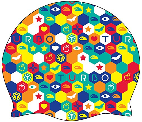 New Turbo - Cuffia per Piscina in Silicone Modello Hexagon