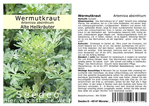 Seedeo® Wermutkraut (Artemisia absinthium) 1000 Samen
