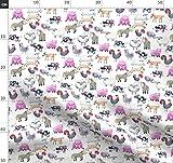 Bauernhof, Nutztiere, Rustikal, Wasserfarben, Kuh, Pferd,