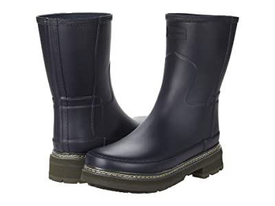 Hunter Refined Short Stitch Detail Wellington Boots (Delta) Women