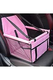 Dos barras de apoyo Asiento de coche plegable para mascotas Caidi port/átil peque/ño perro gato coche con correa de seguridad y bolsillo de almacenamiento con cremallera