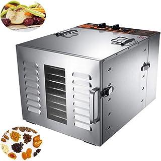Séchoir à fruits, protection contre la surchauffe Séchoir à température réglable électriquement de 40 à 90 ° C pour viande...