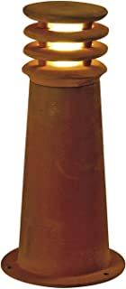 SLV Rusty 40 Bollard Light, FeCSi Steel/Plastic, E27, Iron Roasted, 40 cm Height