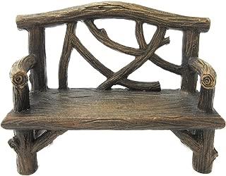 Pacific Giftware Enchanted Garden Tree Stump Bench Mini Fairy Garden Decorative Accessory 4 Inch L