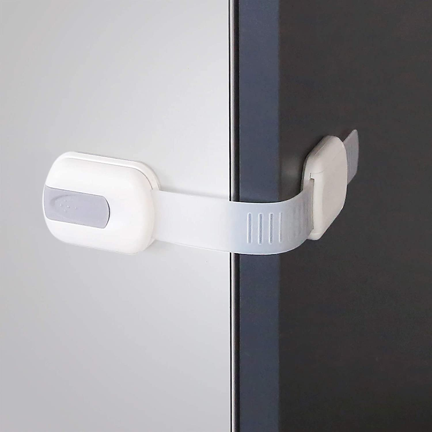 Vmaisi Baby Proofing Cabinet Locks - Adjustable Spring new work Mu Childproofing Sale Special Price