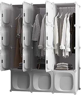 Penderies Combinaison Blanche en Couches Location Chambre Chambre Armoire étudiant Montage Simple Push-Pull Moderne Liuyu....