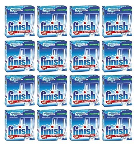 16 paquetes Finish Classic Powerball detergente para lavavajillas TABS monodosis