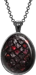 Black Dragon Egg Pendant, Game of Thrones Necklace, Geek Jewelry, Girl Gift, Birthday Gifts, Khaleesi, Daenerys Targaryen