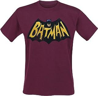 Batman ´66 Logo Hombre Camiseta Rojo, Regular
