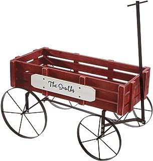 Fox Valley Traders Personalized Red Wagon Planter, Decorative Indoor/Outdoor Garden Backyard Planter