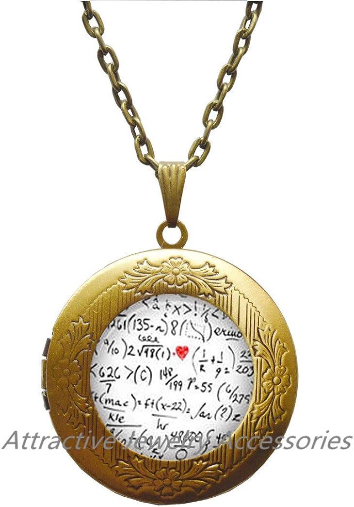 Wklo0avmg Mathematical Symbol Number Locket Necklace Math Jewelry Locket Necklace Locket Pendant Jewelry Maths Jewellery Number Locket Necklace Mathematics Symbol Locket Pendant Teacher,QK061