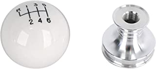 Steeda 555-1251 White Cue Ball Shifter Knob for Ford Mustang V8/V6 M/T