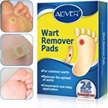 Wart Remover, Wart Removal Plasters Pad, Foot Corn Removal Plaster with Hole, Penetrates and Removes Common and Plantar Warts, Callus,Stops Wart Regrowth 24 Pcs/Box (24 pcs)