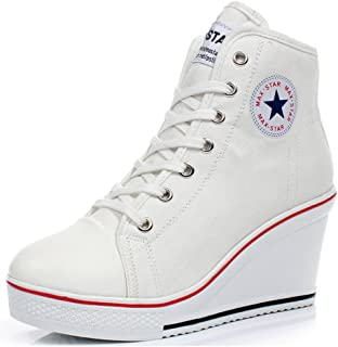 Canvas Sneaker Lace Up Fashion Shoes High Top Casual Cap Toe Sneaker Classic Comfortable Walking Shoes for Women and Men