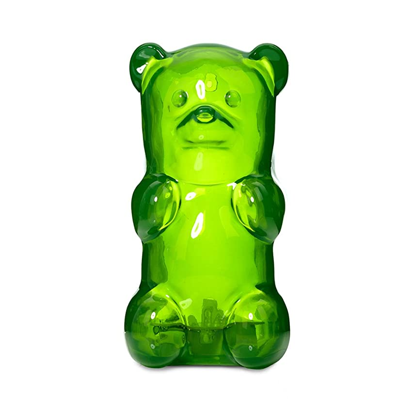 Gummygoods Squeezable Gummy Bear Night Light for Kids, Babies, Toddlers - Portable w/Sleep Timer (Green)