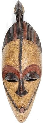 Amazon.com: NOVICA decorativos Hausa Madera Máscara, Beige ...