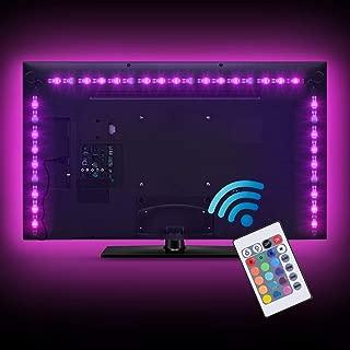 SUNNEST LED TV Backlight, 2M/6.56ft 5V USB LED Strips 5050 RGB Bias Lighting with Remote for HDTV Desktop PC Monitor Home Theater Kitchen Cabinets, LED Light Strips, TV Backlight (40-60in, Multicolor)