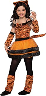 Forum Novelties Girl's Tiger Cub Costume Dress, As Shown, Large