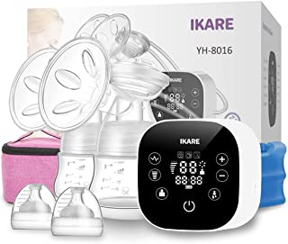 IKARE Double Breast Pumps Hospital Grade, Electric Portable with Most Comfortable 120 Levels Free-Style, Rechargeable Milk Pump for Travel & Home, Super Quiet