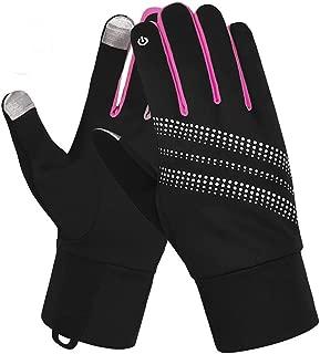 7-Mi Unisex Glove Reflective Design Winter Running Cycling Biking Gloves Touch Screen Outdoor/Indoor Sports Gloves Windproof Gloves Men Women