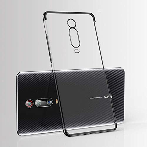 Jotech Electroplating Soft Silicon Transparent TPU Back Case Cover For Xiaomi Redmi K20 Pro Black