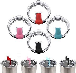 Koogel Tumbler Replacement Lids,4 Pcs 30oz Spill-proof Splash Resistant Lids Covers for Tumblers Cups