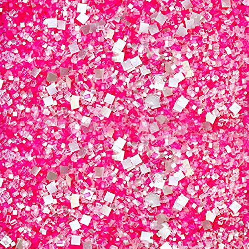 Love Potion Glittery Sugar| Colorful Valentine Pink Sugar Sprinkles Mix For Baking Edible Cake Decorations Cupcake Toppers Cookie Decorating Ice Cream Candy Toppings, 2OZ(Sample Size)