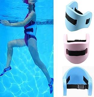 GCDN Cinturón de natación, Flotador Cintura de Espuma Cinturón de Espuma Adultos Niños Ayuda de Entrenamiento Seguro Tablero de Espuma para niños Deportes(Blue)