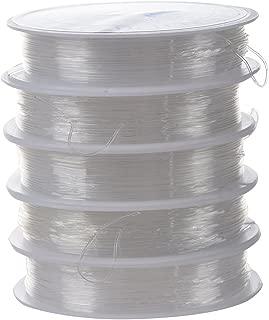 Cadena delgada de cuenta elastic Clara Cadena de cristal Rollo de hilo SODIAL Alambre de cuenta de cristal R