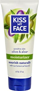 Kiss My Face Moisturizer with Olive Oil and Aloe Vera, Body Lotion, 6 Ounce